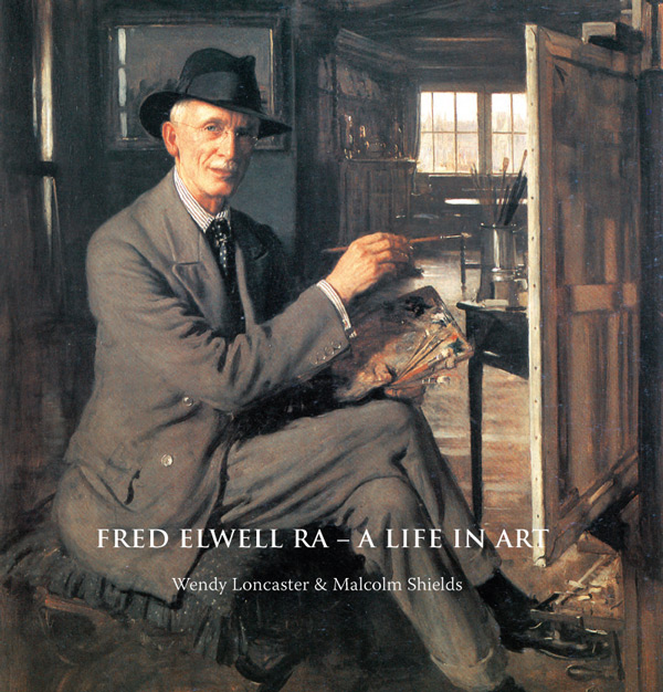 Self portrait 3, Frederick William Elwell, 1933, aged 63. Oil on Canvas. Cover of Fred Elwell - A Life in Art