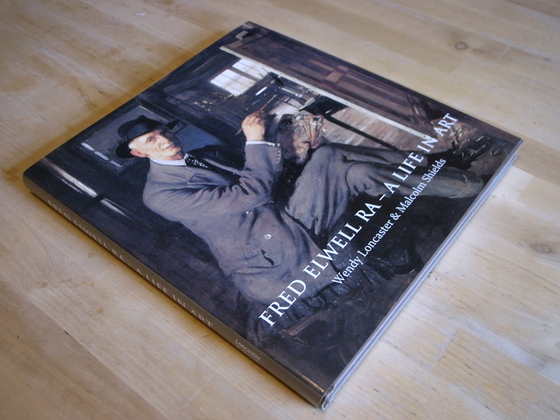 The dust jacket of the Beverley painter Fred Elwell biography